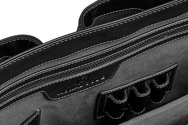 ビジネスレザートートバッグ メンズ ブラック 黒 CROSBYクロスビー