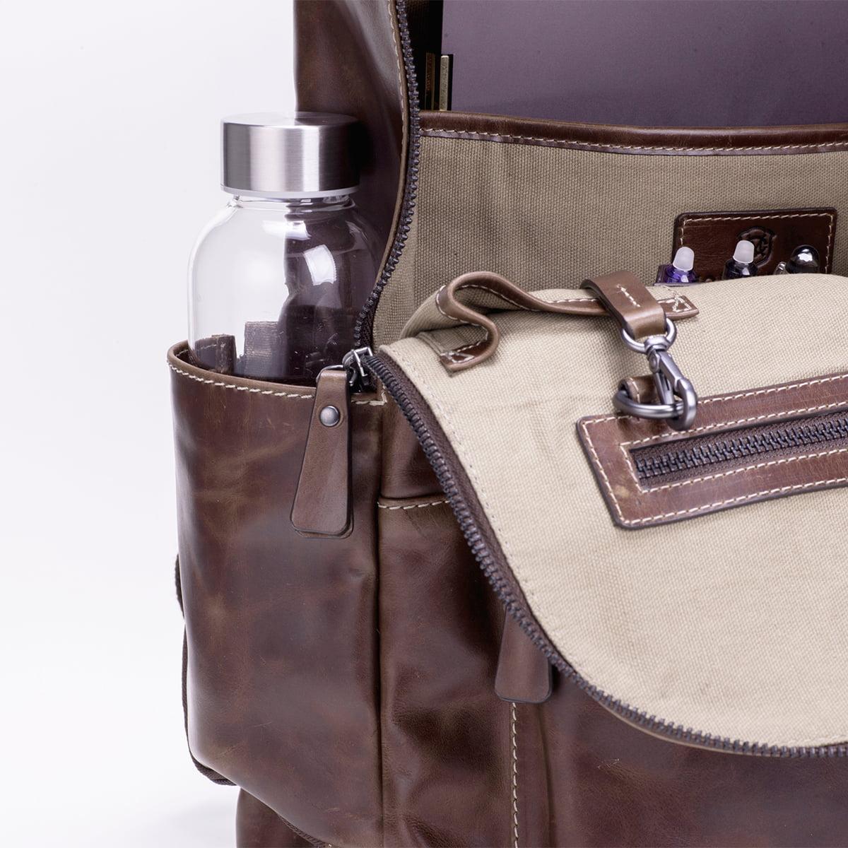 ビジネス レザーリュック メンズ DESMOND-II デスモンド2 ブラウン 茶