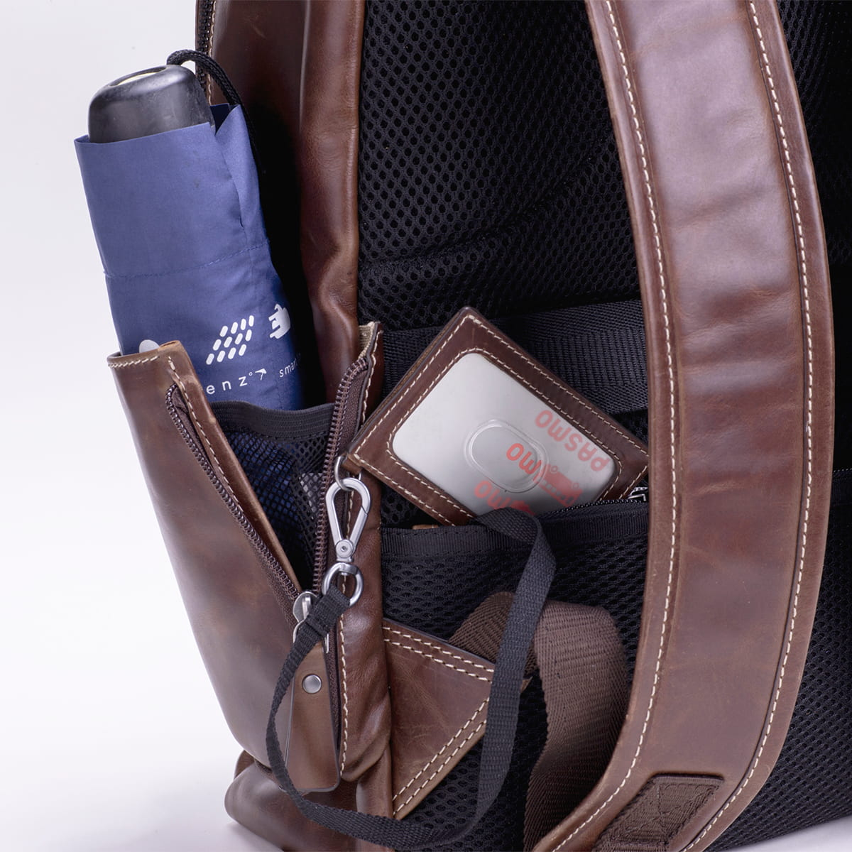 レザーリュック メンズビジネス DESMOND-II デスモンド2 ブラウン 茶