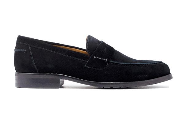 スエードローファー WALKER ウォーカー ブラック黒 革靴カジュアル