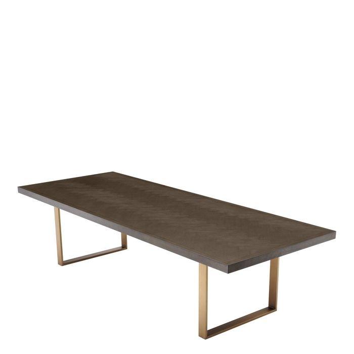 EICHHOLTZ_Dining Table Melchior brown oak veneer 300 cm