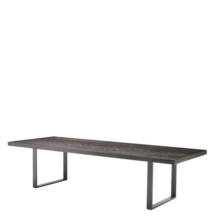 EICHHOLTZ_Dining Table Melchior charcoal oak veneer 300 cm