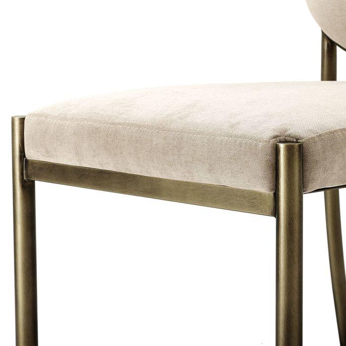 EICHHOLTZ_Dining Chair Scribe dark brass greige velvet