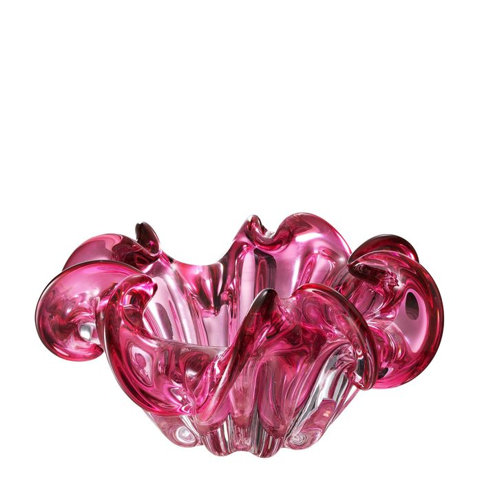 EICHHOLTZ_Bowl Triada pink glass