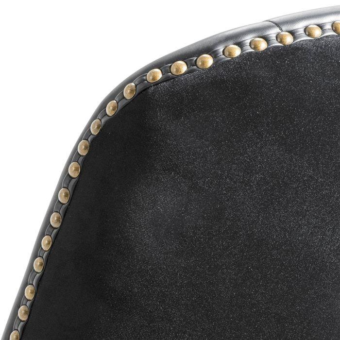 EICHHOLTZ_Bar Stool Balmore black velvet black PU