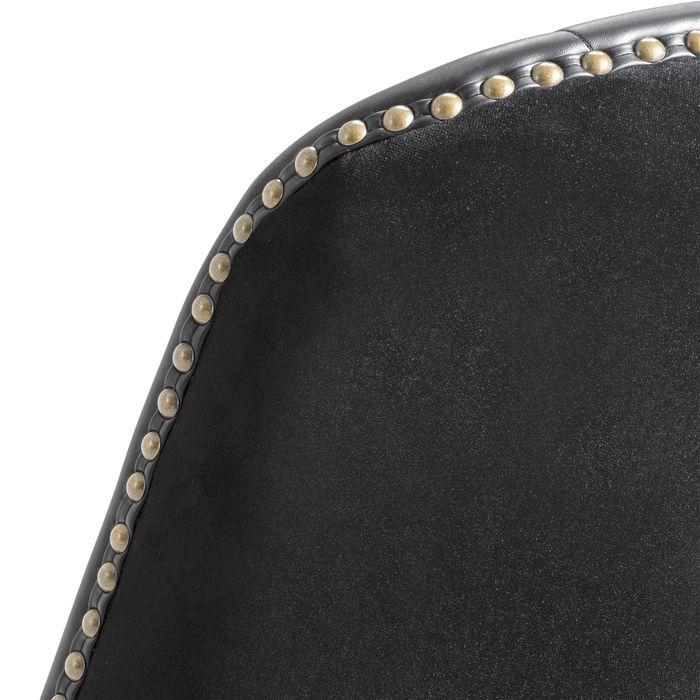 EICHHOLTZ_Counter Stool Balmore black velvet black PU