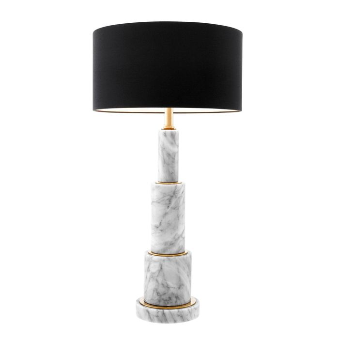 EICHHOLTZ_Table Lamp Dax gold finish white marble incl shade