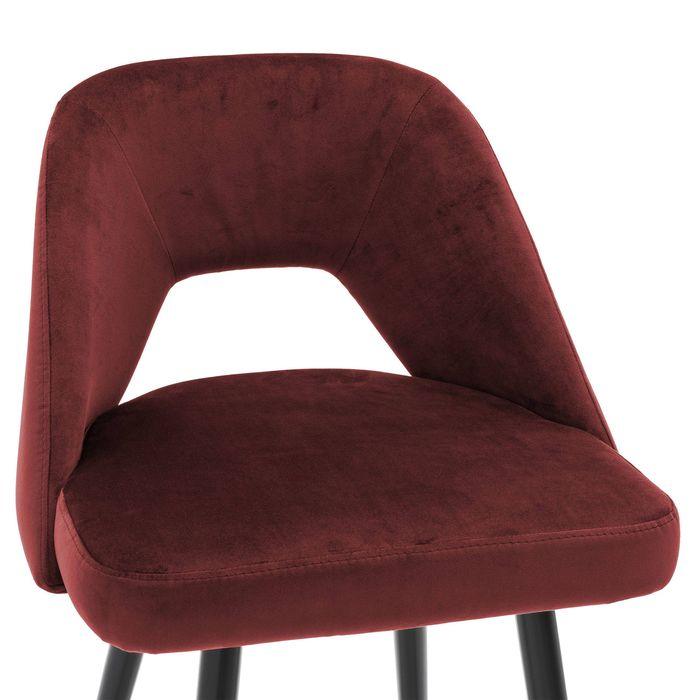 EICHHOLTZ_Bar Stool Avorio roche bordeaux red velvet