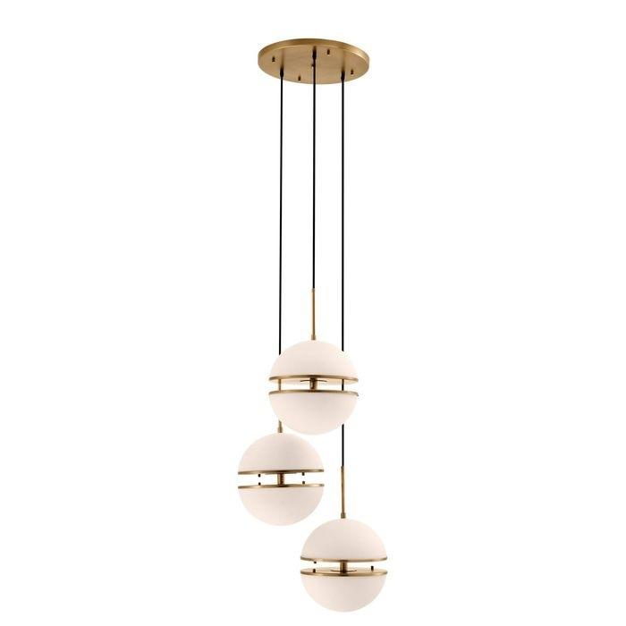 EICHHOLTZ_Hanging Lamp Spiridon Triple antique brass finish