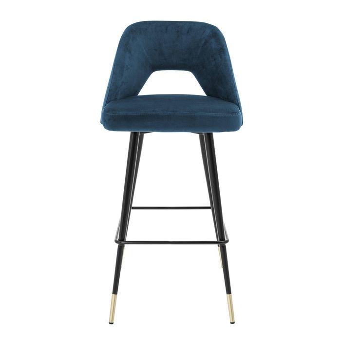 EICHHOLTZ_Bar Stool Avorio roche blue velvet
