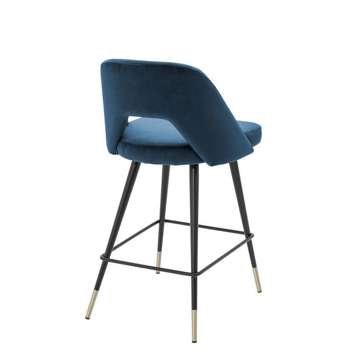 EICHHOLTZ_Counter Stool Avorio roche blue velvet