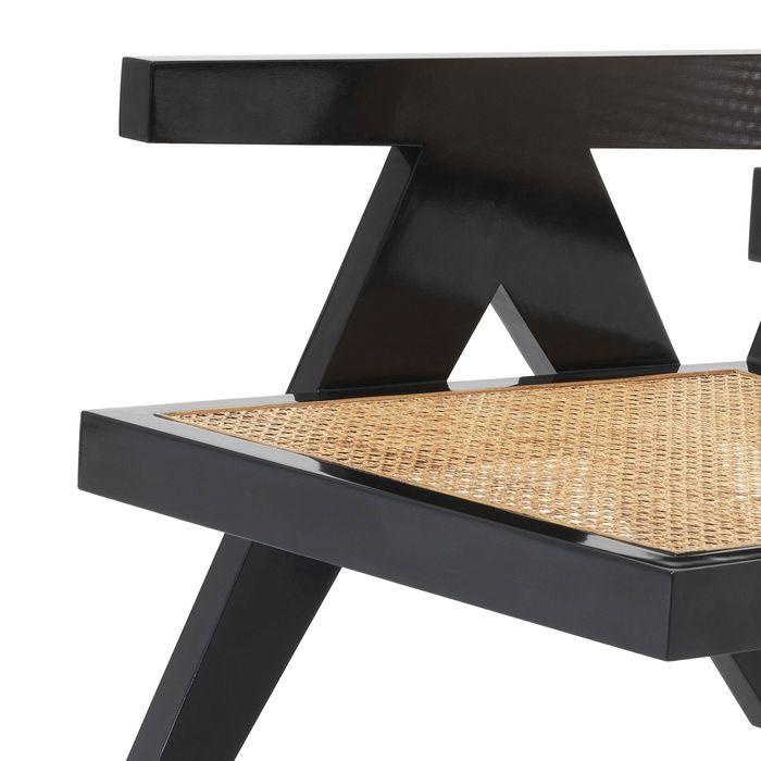 EICHHOLTZ_Chair Adagio black finish natural cane