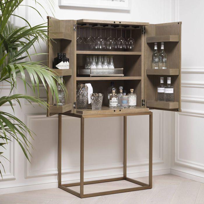 EICHHOLTZ_Cabinet DeLaRenta washed oak brass finish