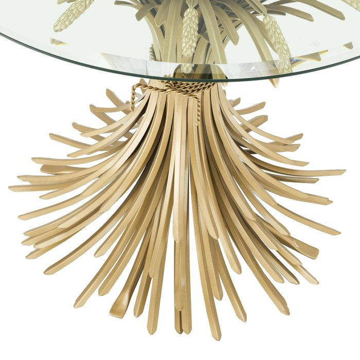 EICHHOLTZ_Side Table Bonheur ? 90 x H. 70cm antique gold fin