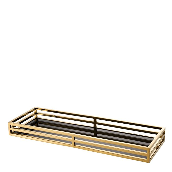 EICHHOLTZ_Tray Ersa rectangular gold finish
