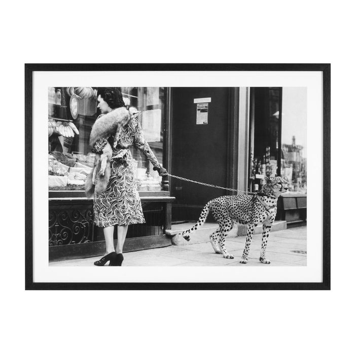 EICHHOLTZ_Print EC267 Elegant Woman with Cheetah