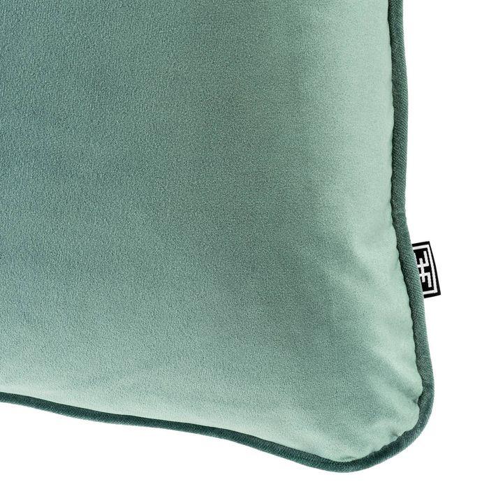 EICHHOLTZ_Pillow Roche turquoise velvet 60 x 60 cm