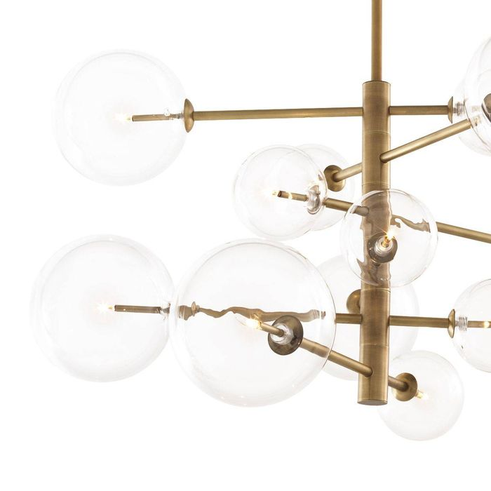 EICHHOLTZ_Chandelier Argento S antique brass finish