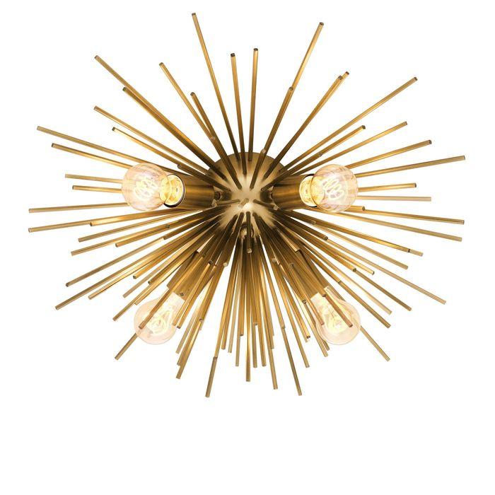 EICHHOLTZ_Ceiling Lamp Boivin matte brass finish