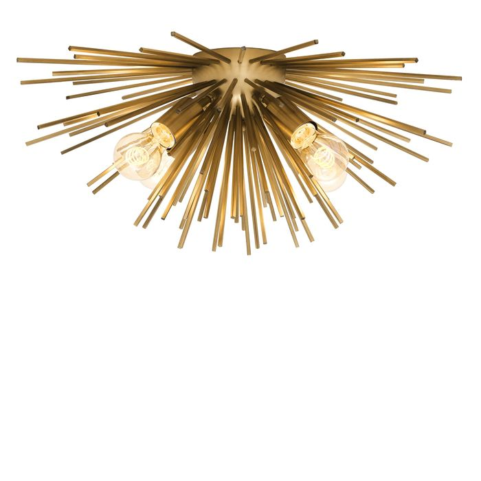 EICHHOLTZ_Ceiling Lamp Boivin matte brass finish