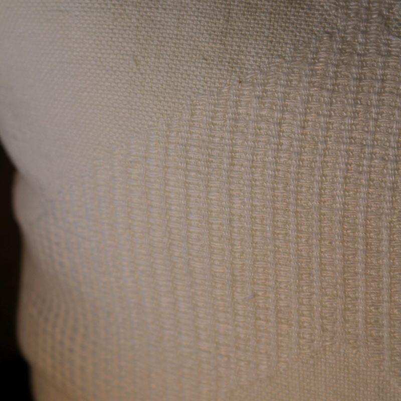 ジオメトリッククッションカバー ホワイト  50%OFF
