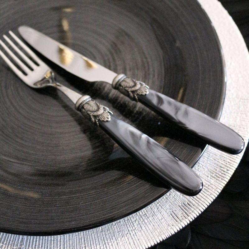 イスキアカトラリー ブラックパール