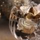 プリザーブドフラワー&グラスGift ホワイトゴールド