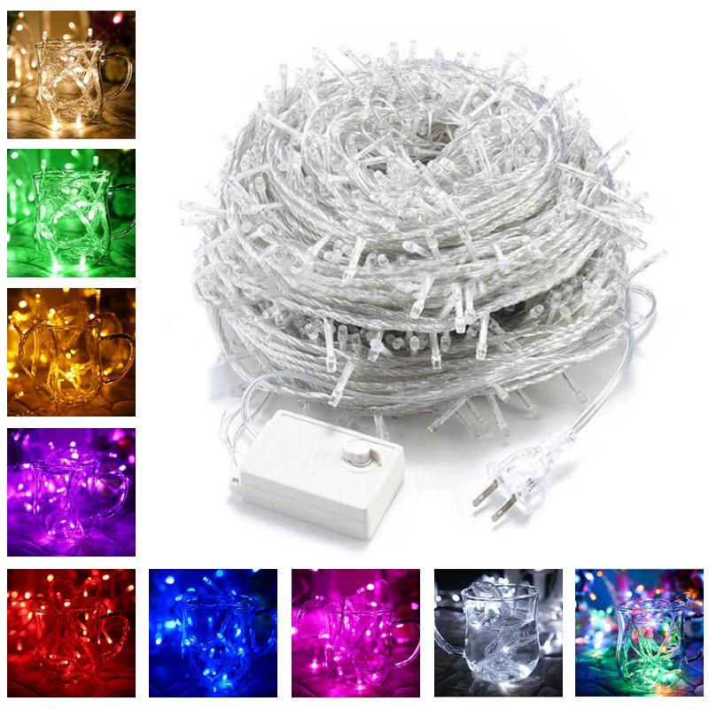 LEDイルミネーションライト  100球 10m  インテリアライト ストリングライト クリスマス 飾り  防水  屋外対応  8つ点灯パターン