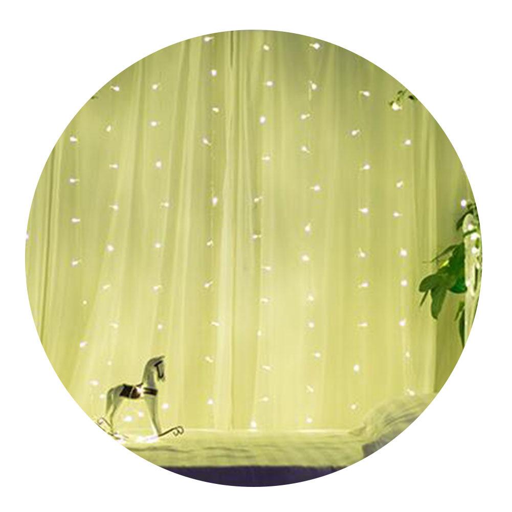 LEDイルミネーションライト 3m*3m304球 ローボルトイルミネーション カーテンライト インテリアライト クリスマス 飾り  防水  屋外対応  8つ点灯パターン