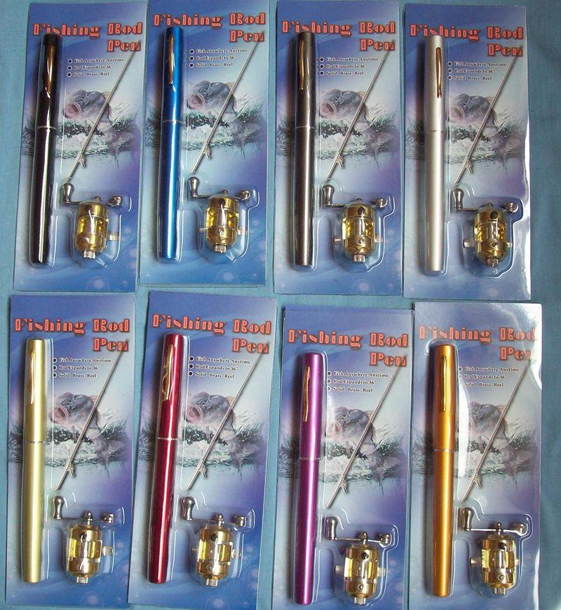 携帯時はペン型約20.5cmが、伸ばすと1mのつり竿ペン型釣竿