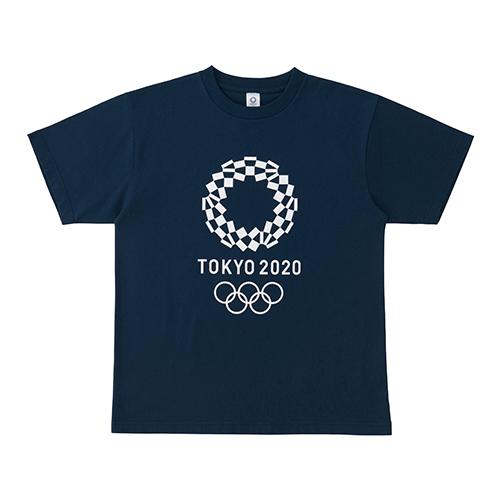 Tシャツ(東京2020オリンピックエンブレム)ネイビー
