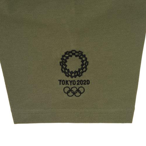 天竺ポロシャツ(東京2020オリンピックエンブレム) カーキ
