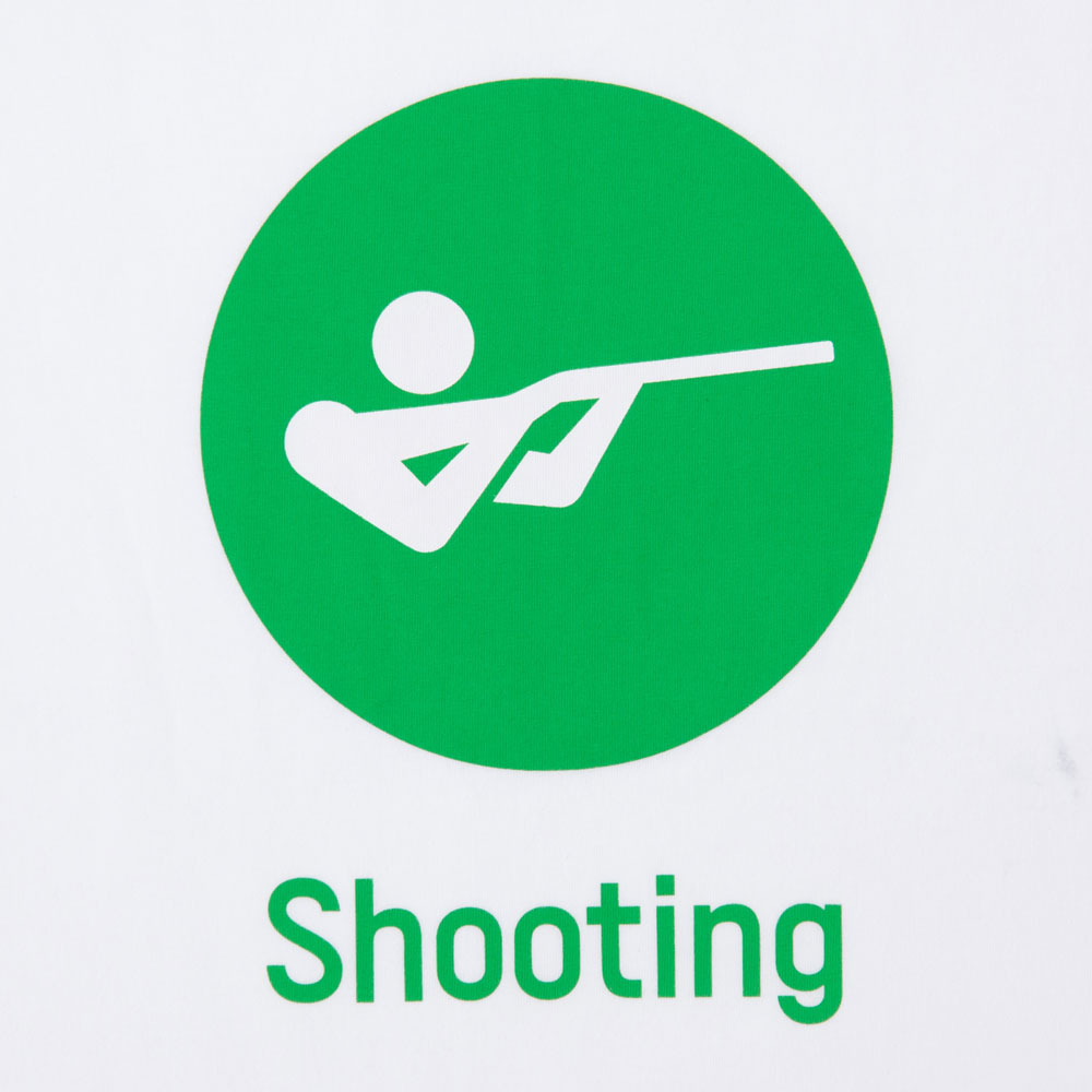 Tシャツ射撃(東京2020オリンピックスポーツピクトグラム)