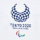 ラグランユニセックスTシャツ(東京2020パラリンピックエンブレム)ホワイト/グレー