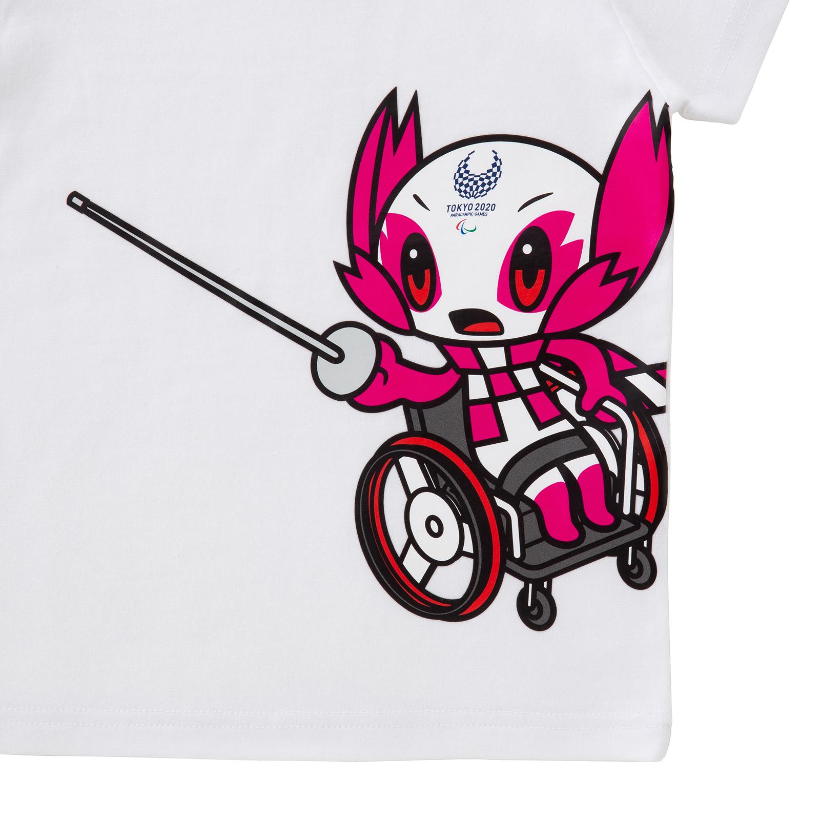 KIDSTシャツ車いすフェンシング(東京2020パラリンピックマスコット)