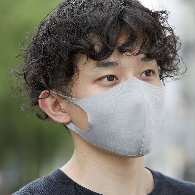 EITORE -Polyester Stretch Mask-(3枚入)ブラック