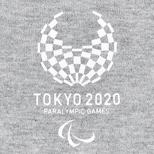 キッズステッチTシャツ(東京2020パラリンピックエンブレム)グレー