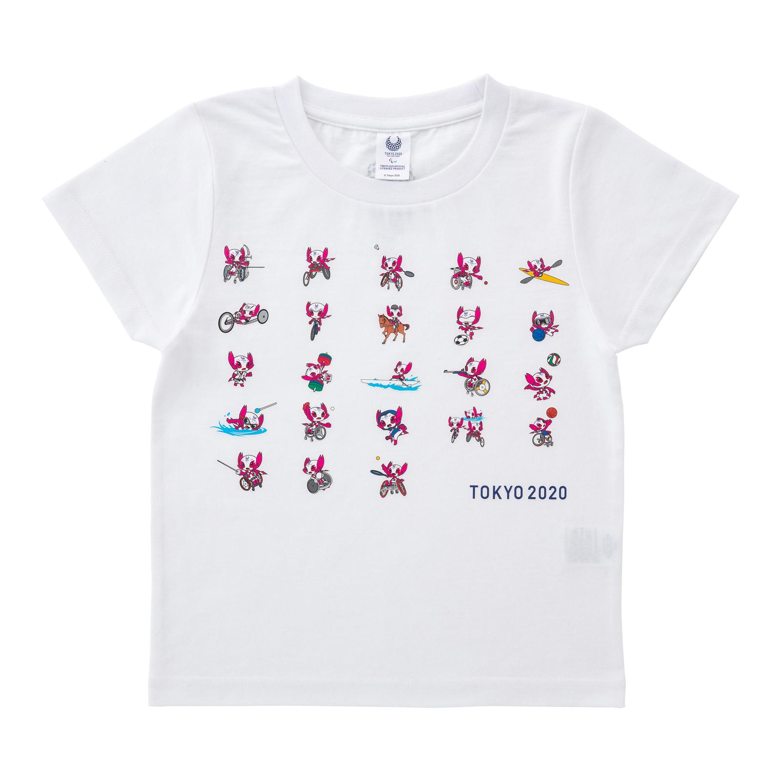 KIDS Tシャツ全競技ポーズ (東京2020パラリンピックマスコット)