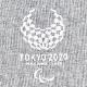 ユニセックスステッチTシャツ(東京2020パラリンピックエンブレム)グレー