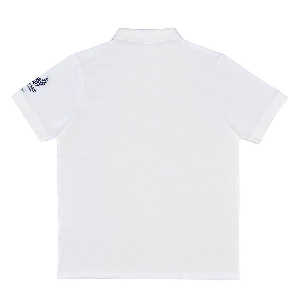 袖刺繍ユニセックスポロシャツ(東京2020パラリンピックエンブレム)ホワイト