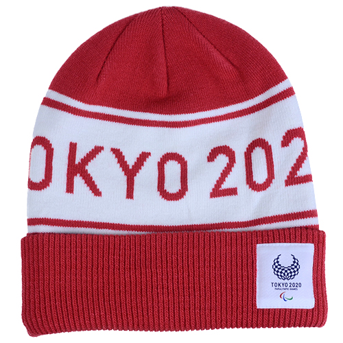 ジャガードニットワッチ(東京2020パラリンピックエンブレム)レッド