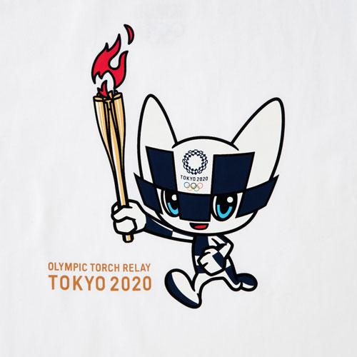プリントTシャツ(東京2020オリンピック聖火リレーマスコット)ホワイト