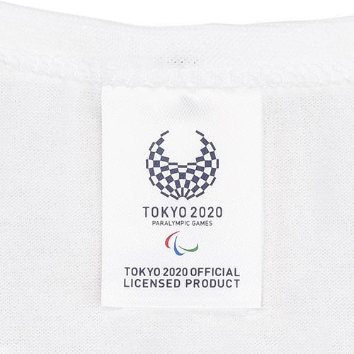 ユニセックスステッチTシャツ(東京2020パラリンピックエンブレム)ホワイト