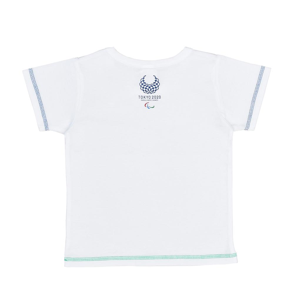 キッズステッチTシャツ(東京2020パラリンピックエンブレム)ホワイト