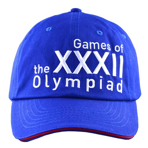 ライン入りキャップ(東京2020オリンピックエンブレム)ブルー