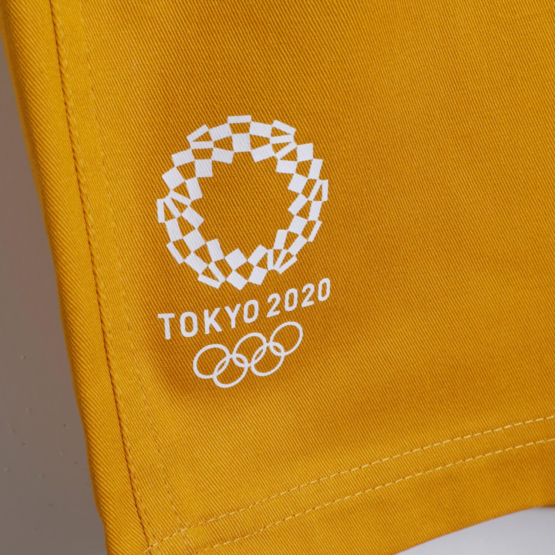 ツイルハーフパンツ(東京2020オリンピックエンブレム)(マスタード)