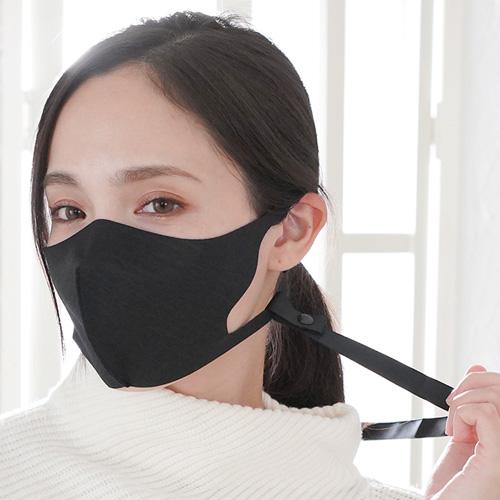 【10枚セット限定割引1200円引き】洗える抗菌マスク グラフェン ネックストラップ付 低刺激 高耐久 UVカット フィトンチッド MEDIK