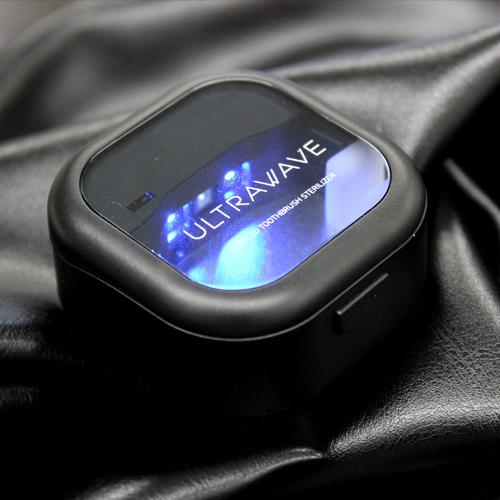 歯ブラシ除菌キャップ UV-C-LEDでコンパクトケースで除菌!おしゃれ・軽い・軽量設計な充電式除菌ホルダー 【特典:USB ACアダプター付き】MDK-TS03 MEDIK