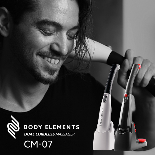 BODY ELEMENTS マッサージ機 デュアルコードレスマッサージャー CM-07【送料無料】|MEDIKダイレクトだけの購入特典 3Dジョイント付き|MEDIK(メディク)