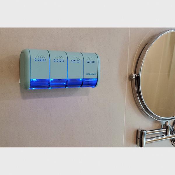 歯ブラシ除菌ホルダー[MDK-TS04] UV-C LEDを採用した歯ブラシ除菌器。(今なら歯ブラシ除菌キャップ1個付き)【送料無料】|MEDIK(メディク)